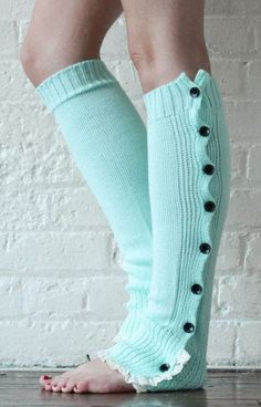 Leg Warmers Mint Boot Toppers
