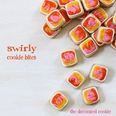 The Decorated Cookie - Cookie decorating, marshmallow crafts, and more fun food ideas. Bite Size Cookies, Fun Cookies, Great Desserts, No Bake Desserts, All You Need Is, Cookie Tutorials, Best Cookie Recipes, Stick Of Butter, Cookie Decorating