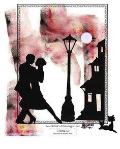 LAMINAS PARA DECOUPAGE 3 (pág. 233) | Aprender manualidades es facilisimo.com Silhouette Couple, Silhouette Curio, Tango Art, Tango Dancers, Dancing Drawings, Globe Art, Decoupage Vintage, Art Background, Vintage Postcards