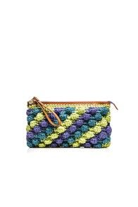 MULTICOLOR RAFFIA CLUTCH