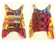 Chemisier en haut Ankara Christy rose mix africain vêtements