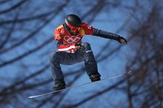 Markus Schairer of Austria competes during the Men's Snowboard Cross Seeding on day six of the PyeongChang 2018 Winter Olympic Games at Phoenix Snow Park on February 15, 2018 in Pyeongchang-gun, South Korea.