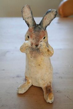 I have created this handmade rabbit a papier mache sculpture. He is inspired my the local nature reserve meadow in Hamble Valley, the meadow is called 'bunny meadows' as it is always full of white tailed rabbits. One of a kind sculpture. He arrives to. Paper Mache Projects, Paper Mache Clay, Paper Mache Sculpture, Paper Mache Crafts, Clay Crafts, Paper Clay Art, Paper Mache Paste, Yarn Crafts, Diy Projects