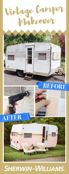 How to Paint a Vintage Camper Want to go glamping in style? Or maybe you're just looking for a sweet new clubhouse? Over at Becki transformed a faded vintage camper into a dreamy retro glamper. With the use of Sher-Cryl HPA Semi-Gloss paint in