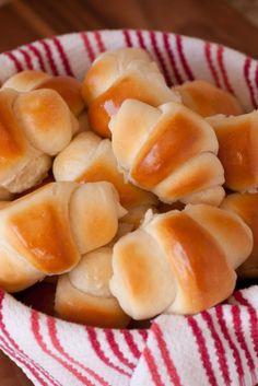 Amazing Dinner Rolls Ingredients - butter, flour, milk, yeast, Valentine's Day food ideas www.loveitsomuch.com