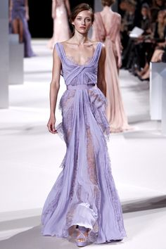 Elie Saab couture flowing pale blue gown