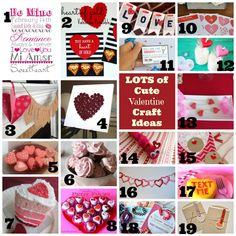 Lots of Cute Valentine Crafts on Making the World Cuter