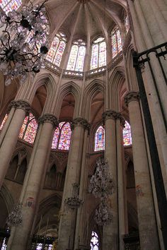 Le Mans Cathedral, France. Flamboyant Gothic Choir and Apse. In the Footsteps of Eleanor of Aquitaine