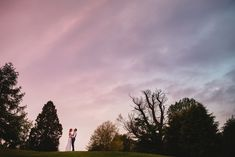 Bride and groom at sunset.  Wedding portraits