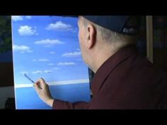 How To Paint Clouds With Acrylics lesson 1 Painting class Art Instructions