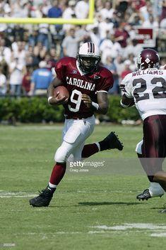 Quarterback Corey Jenkins  9 of the University of South Carolina Gamecocks  scrambles for yards against 8682953c6