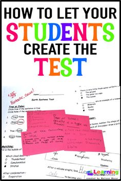 """Trick"" your students into learning test-taking skills by having them create the next unit test!"