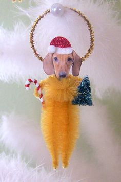 Dachshund Vintage Style Chenille Ornament  $8.95