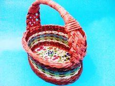 ▶ Cómo tejer mango para las cestas de Pascua. Parte 7. - YouTube
