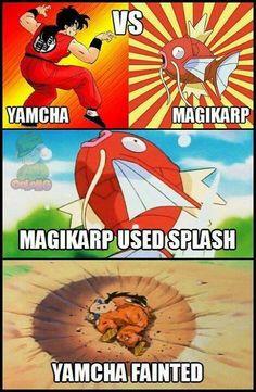 DBZ meme - Yamcha vs Magikarp