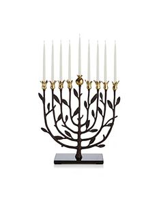 Designer Home Decoration Essentials - Bloomingdale's Hanukkah Menorah, Hannukah, Happy Hanukkah, Jewish Hanukkah, Hanukkah Gifts, Chandeliers, Arte Judaica, Decopage, Old Images
