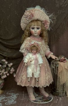 I love this doll and her baby.