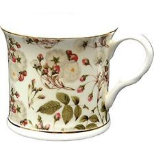 Royal Harvest Fine Bone China Footed Palace Mug Avec Gold Rim PAR Creative Tops