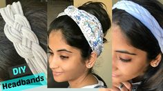 DIY: 3 ways to make stylish headbands from old T-shirts. A very Happy New Year to You all:) :) Instead of tossing an out of style T-shirt or knit dress, why not turn it into a pretty headband instead? In this video, I show you how you can Shirt Tutorial, Headband Tutorial, Turban Headbands, Knot Headband, Baby Headbands, Braided Headbands, Tshirt Knot, T Shirt Diy, Bandanas