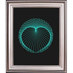 String Art Fun FREE Heart Circle Pattern - jusy lovely for an engagement or a wedding or even a valentine!