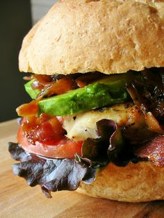 Basil: Grilled Chicken Club with Avocado