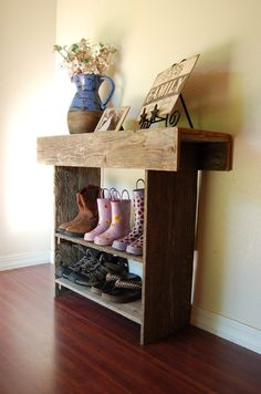 @Debbie Smith - you could totally make something like this for shoe storage. A long one that doubles as a cool hall console table....