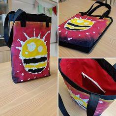 Det blidde en väska #mjölbatik #slöjd #elevinspiration - lottalsalam