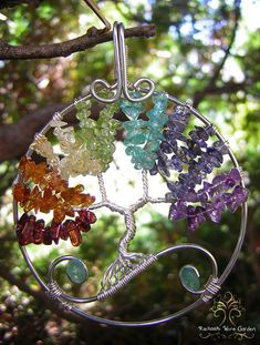 MADE TO ORDER Chakra Balancing Tree of Life by RachaelsWireGarden, $55.00