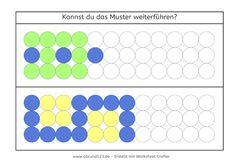 Muster malen und fortsetzen | odwzorowywanie układów na kartce ...
