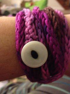 Hand crocheted wrap bracelet