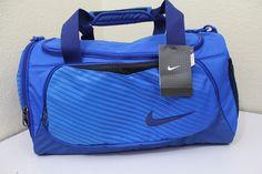 Nike small unisex duffel gym bag blue 20