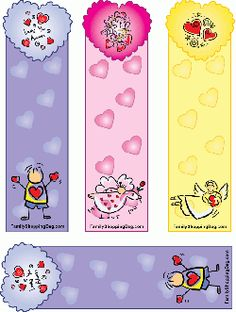 Beautiful & Colorful Heart Bookmarks Bookmarks