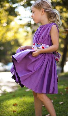 Llum Kids Degas Violet Double Layered Dress