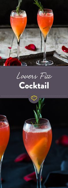 Valentinstag steht vor der Tür und du weißt immer noch nicht, was du vorbereiten sollst? Mixe einen Lovers Fizz Cocktail. Der geht immer und überall.