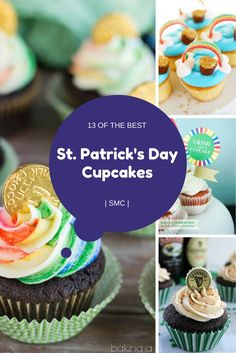 St Patricks Day Cupcakes | Recipes | Leprechauns | Rainbows | Guinness | Baileys | Irish Cream