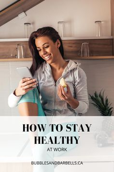Being healthy at work can be a challenge at times. This is why I made a helpful guide to put you on the right path for success. #lifestyletips #inspirechange #lifechanges #healthyhabits #howtochangeyourself#nutritiontipsandtricks #howtobefit #howtoloseweightquickly #loseweightfast #healthierlifestylechanges #howtobehealthier #dietingtips #fitnesstipsandtricks #nutrition #changethewayyoueat #eatinghabits #fitness #fittips #healthfitnessnutrition #womensfitness #healthychanges #work #office Ways To Stay Healthy, Healthy Habits, Nutrition Tips, Diet Tips, You Fitness, Fitness Goals, Eating Habits, How To Lose Weight Fast, Fit Women