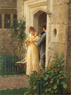 """The Request"". (by Edmund Blair Leighton)."