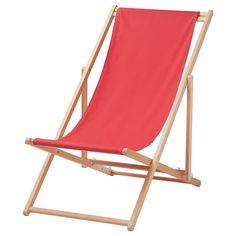 MYSINGSÖ Beach chair - folding red, - - IKEA