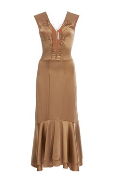 Stretch Sateen Lace-Up Dress by JONATHAN SIMKHAI for Preorder on Moda Operandi