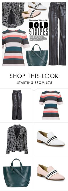 """""""Bold Stripes"""" by anna-anica ❤ liked on Polyvore featuring Etro, Ted Baker, Sophie Theallet, rag & bone and Victoria Beckham"""