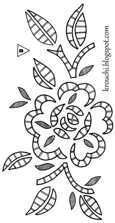 Crochet et Broderie: Roses ajourees Machine Embroidery Quilts, Cutwork Embroidery, Floral Embroidery Patterns, Hand Embroidery Flowers, Tatting Patterns, Hand Embroidery Stitches, Applique Patterns, Hand Embroidery Designs, Cross Stitch Patterns