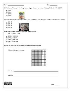 Long Division Worksheets With Answers Word Money And Decimals Duo  Assessment And Worksheet  Best  Biology Corner Worksheets Pdf with Horizontal Math Worksheets Money And Decimals Duo  Assessment And Worksheet Suffixes Worksheets 5th Grade Excel
