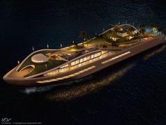 A true floating island yacht