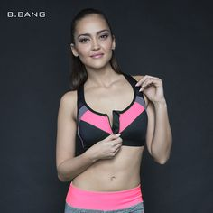 B.BANG 2016 Summer Women Sports Bra Tops Running Gym Padded Wirefree Shakeproof Push Up Bra Top Bra for Woman ropa deportiva => Save up to 60% and Free Shipping => Order Now! #fashion #product #Bags #diy #homemade