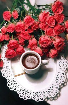 Stay positive and good things will happen. Sweet Coffee, I Love Coffee, My Coffee, Good Morning Coffee Gif, Good Morning Roses, Coffee Flower, Turkish Tea, Breakfast Tea, Coffee Photography
