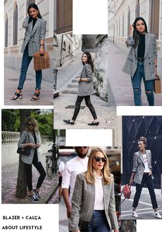 Spring Style, Spring Summer, Plaid Jacket, Fall Winter Outfits, Spring Fashion, Ideias Fashion, Street Style, Formal, Blog