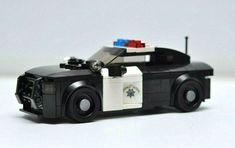 LEGO City Police Car Charger State Trooper Highway CA Black White Speed Champion #Lego Lego Police Car, Charger, Brick, Champion, Black And White, Ebay, Blanco Y Negro, Black White, Black N White