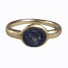 A Lapis and gold ring Central Java 9th century www.ollemans.com SOLD