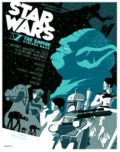 Star Wars V The Empire Strikes Back by Tom Whalen