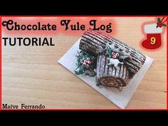 Christmas Advent Calendar: 9th Day - Chocolate Yule Log Tutorial - YouTube